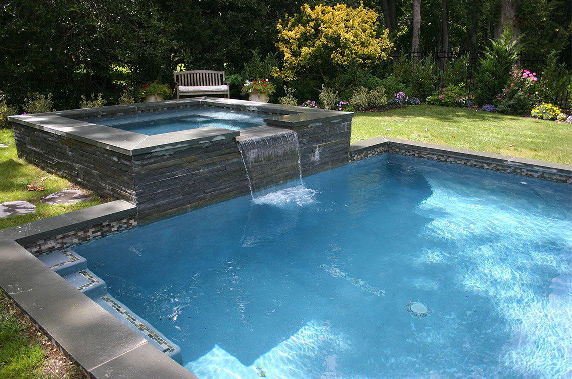 Piscine f pool with piscine fabulous piscine with for Bassin piscine beton